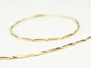 Zlatá retiazka a náramok z chirurgickej ocele