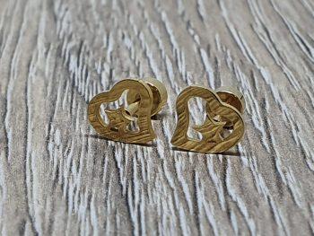 náušnice zlate srdiečko s hviezdou